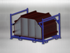 Returnable Grate Rack, loaded – CAD drawing