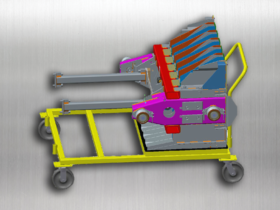Plunger Weldment Transport Cart – CAD drawing
