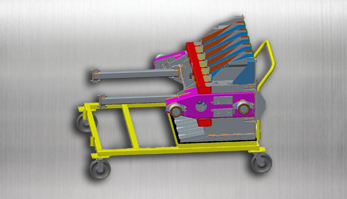 Plunger Weldment Transport Cart – CAD drawing