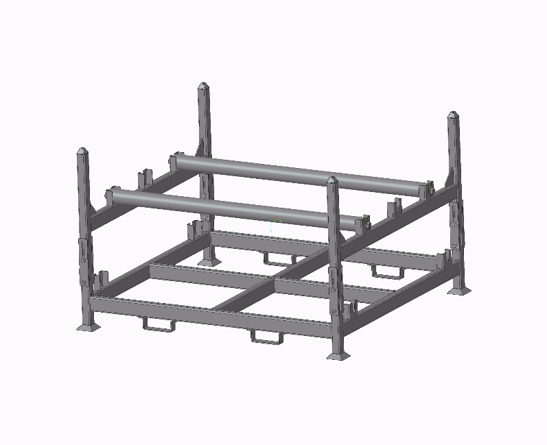 Collapsable Stack Rack – CAD drawing