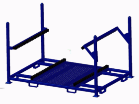 Returnable Grate Rack- open – CAD drawing