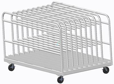 Tinker Steel Sheet Cart CAD drawing