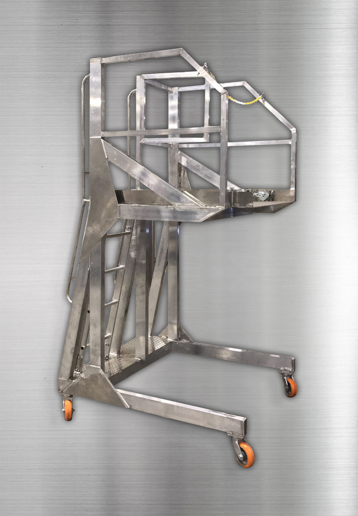Aluminum Elevated Stand Left Side