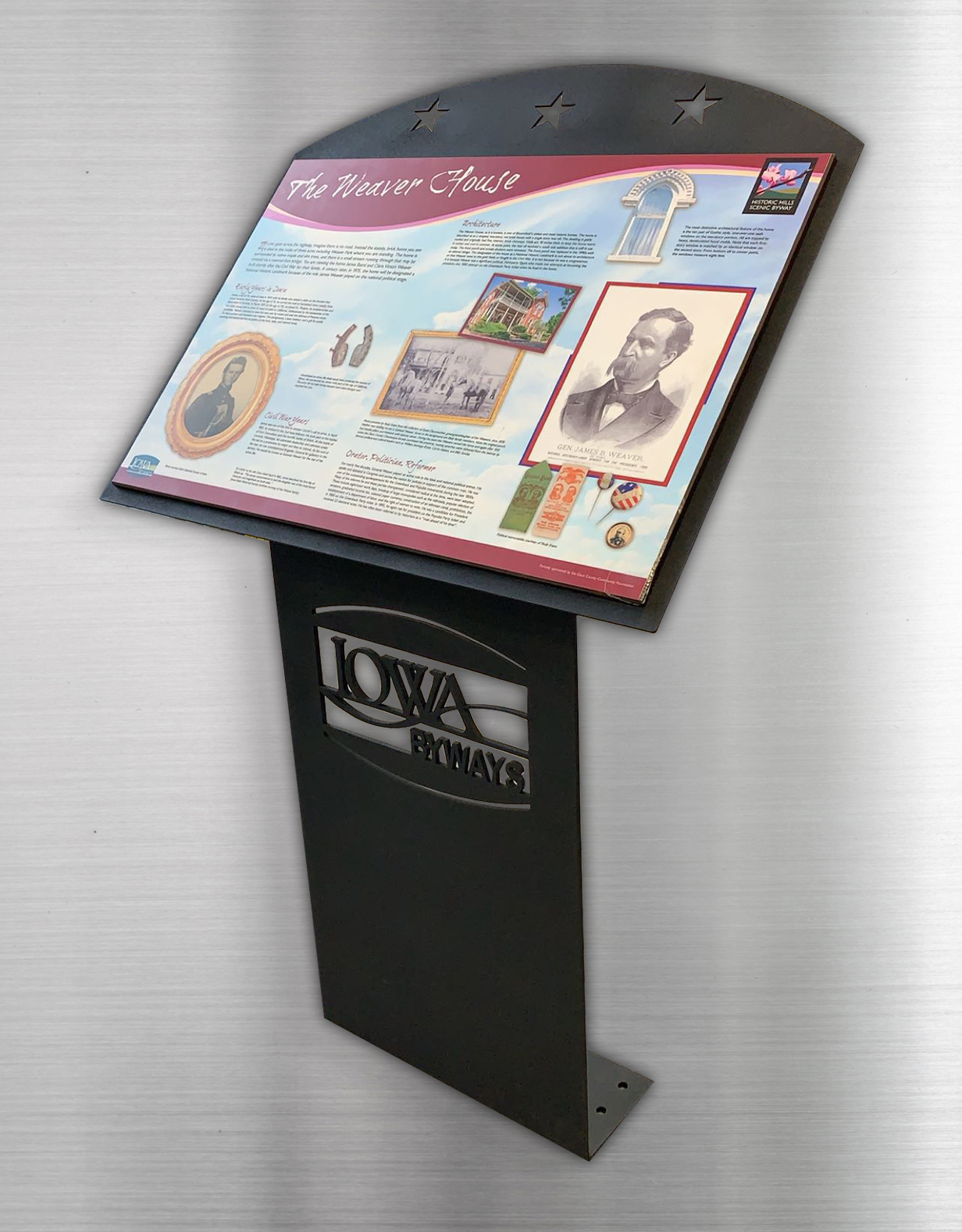 Iowa Byways Sign Stand